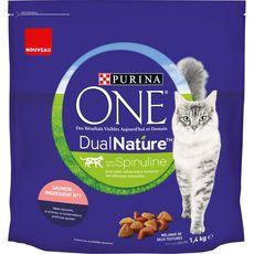 PURINA One dual nature croquettes au saumon pour chat 1,4kg