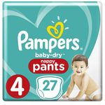 Pampers Baby Dry Pants taille 4, 8–14 Kg, couches  (4 x 27 couches)
