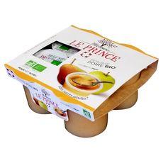 LU THOMAS LE PRINCE Coupelles bio pomme poire sans sucres ajoutés