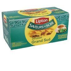 Lipton saveur du soir infusion grand sud sachets x25 -40g