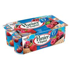 Panier de Yoplait fruits rouges 0%mg 8x125g
