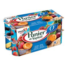 Panier de Yoplait panaché 0%mg 16x125g