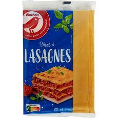 Auchan pâtes lasagnes X6 -250g