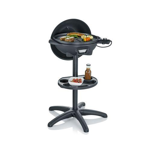 SEVERIN Gril barbecue électrique sur pied avec couvercle PG8541