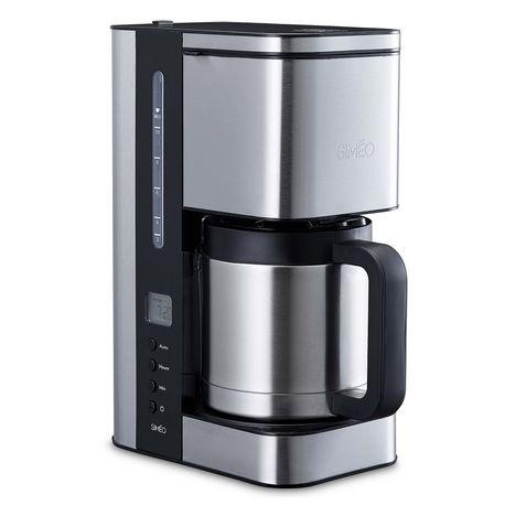 SIMEO Cafetière programmable et isotherme CFP250 noir/inox brossé