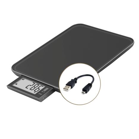 LITTLE BALANCE Balance de cuisine sans pile rechargeable par câble USB (fourni) 8232