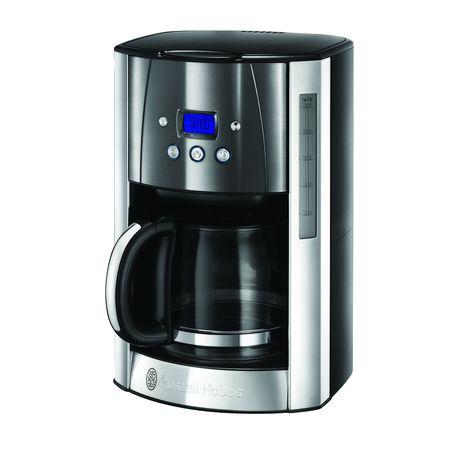 RUSSELL HOBBS Cafetière programmable Luna 23241-56 - Gris et Inox