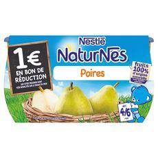 NESTLE Naturnes poire 4x130g dès 4/6mois