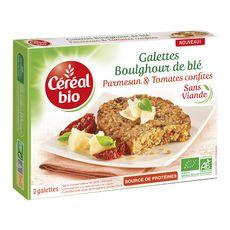 Céréal Bio CEREAL BIO Galettes boulghour de blé, parmesan et tomates confites sans viande