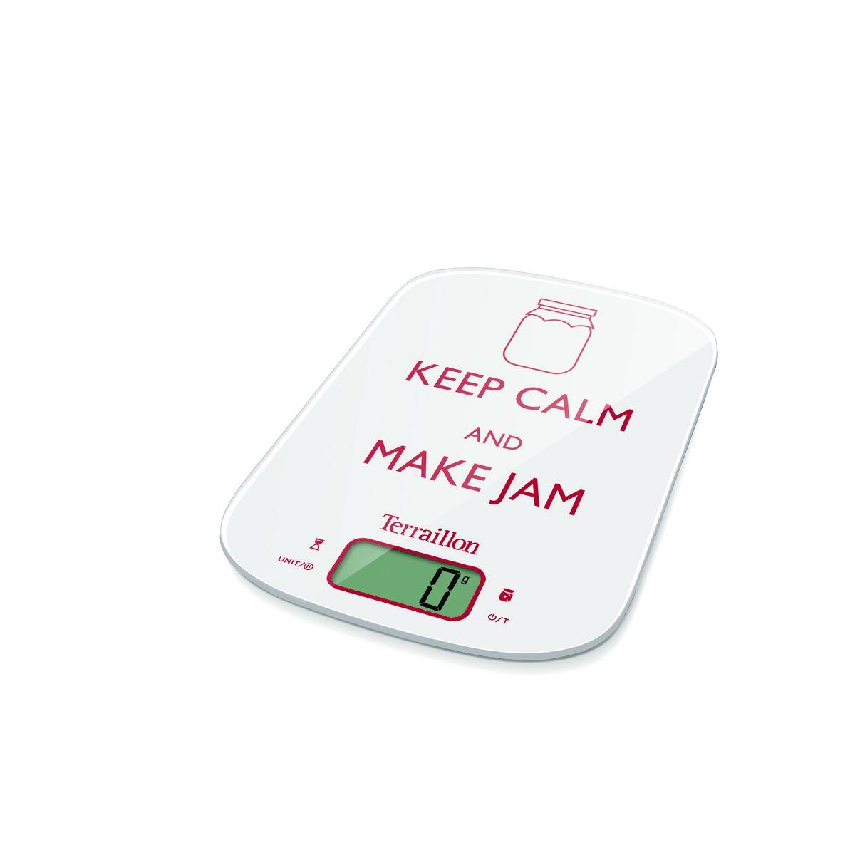 Balance de cuisine Neocook Jam Keepcalm - KEA72210W - Blanc
