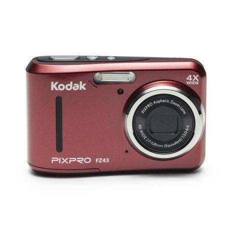 KODAK Appareil Photo Compact - PIXPRO FZ43 - Rouge + Objectif 4.9-19.6 mm