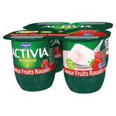 Danone Activia saveur fruits rouges 4x125g