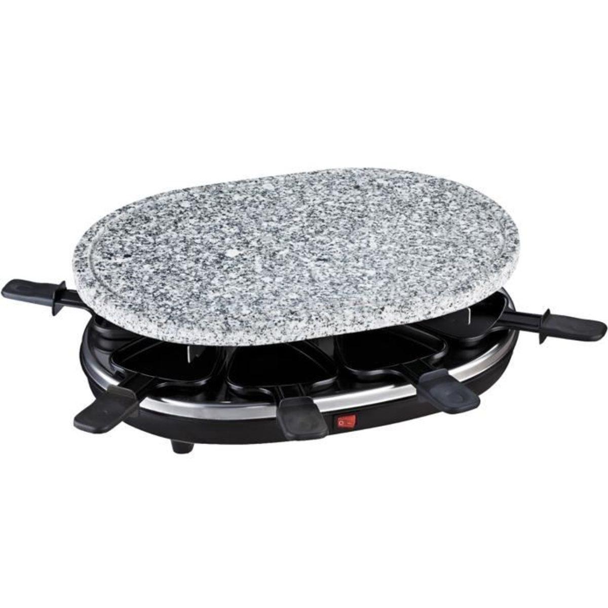 Raclette RP85 + Pierre à Cuire 900W 8 Personnes