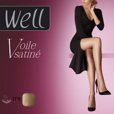 WELL Well collant jambes de rêve voile satiné blush taille 4