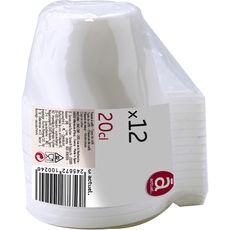 Auchan tasses à café en plastique x12