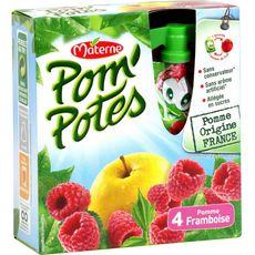 Materne pom'potes pomme framboise 4x90g