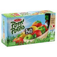 Pom'Potes pomme nature bio x12 -90g