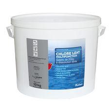 Auchan Chlore multifonction dissolution lente en galets pour piscine 10kg