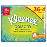 Kleenex mouchoirs étuis balsam classiques x36 + 4 gts
