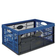 casier pliant 32l noir et bleu 47,5x35x23,6