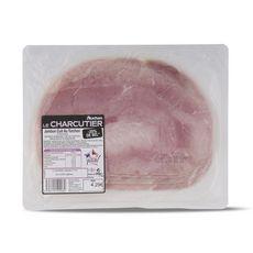AUCHAN LE CHARCUTIER Le Charcutier Jambon cuit au torchon -25% de sel 4 tranches 240g 4 tranches 240g