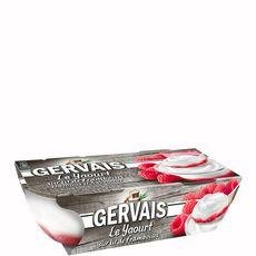 Gervais yaourt sur lit de framboise 2x115g