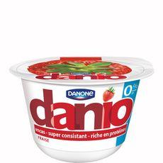 DANIO Yaourt protéïné 0% MG fraise 150g