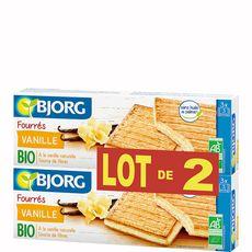 BJORG Bjorg biscuit fourré à la vanille bio 2x225g