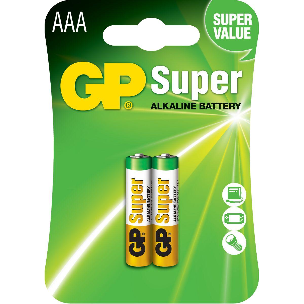 24AE-2U2 - Lot de 2 piles AAA Super Alcaline