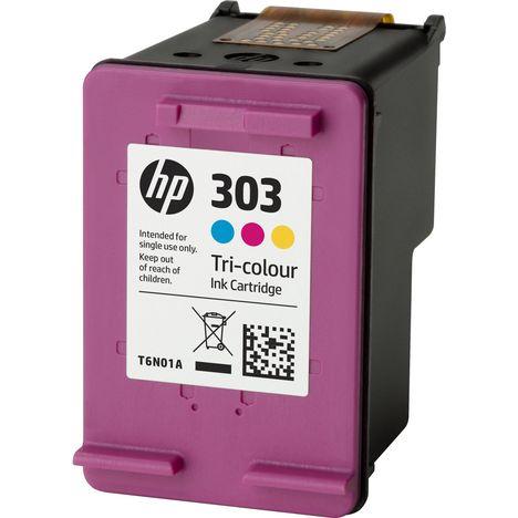 HP Cartouche d'Encre HP 303 Trois Couleurs Authentique (T6N01AE)
