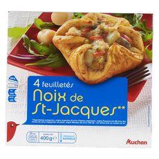 AUCHAN Auchan Feuilletés de Saint-Jacques x4 400g 4 pièces 400g