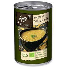 AMYS Amy's bio sans gluten soupe de pois cassés 400g