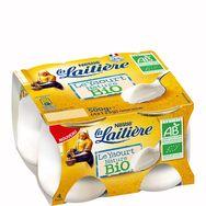 La Laitière Yaourt bio au lait entier nature 4x125g