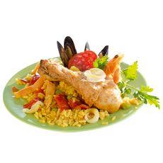 AUCHAN Le Traiteur paëlla au poulet et fruits de mer 350g