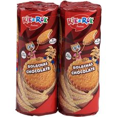 AUCHAN RIK & ROK Biscuits fourrés ronds saveur chocolat 2x300g