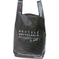 sac plastique noir à bretelles recyclé contenance 20l