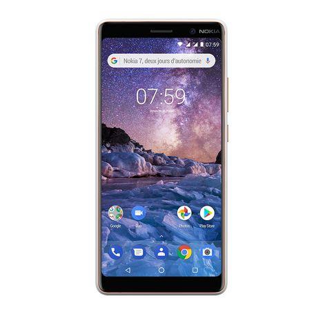 NOKIA Smartphone - Nokia 7 plus - 64 Go - Ecran 6 pouces - Blanc