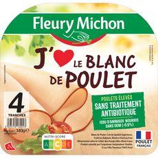 Fleury Michon J'aime le Blanc poulet 4 tranches 140g