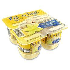 DISCOUNT Riz au lait saveur vanille 4x115g