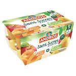 Andros Dessert fruitier pomme abricot les 8 pots de 100 g