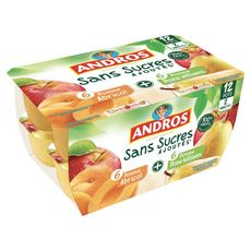 Andros pomme abricot poire 12x100g