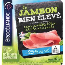 Brocéliande Jambon Bien Elevé sans antibiotique 4 tranches 160g