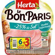Herta bon Paris jambon taux sel réduit tranche x6 +3gt -315g