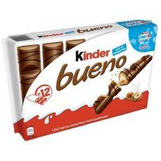KINDER Bueno barres chocolatées 12 barres 516g