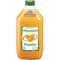Andros jus de clémentines pressées avec pulpe 1.5l