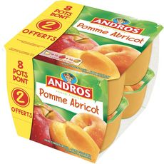 ANDROS Andros compote pomme abricot x8 dont 2offerts 800g