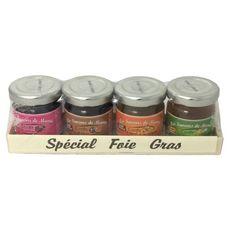 LES SAVEURS DE MAMIE Coffret de confits spécial foie gras 4 pièces 4x40g