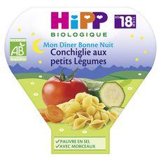 Hipp bio conchiglie petits légumes assiette 260g dès 18 mois