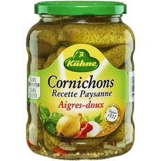KUHNE Cornichons aigres-doux 360g