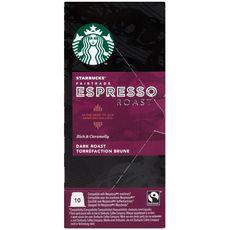 Starbucks café espresso roast nespresso capsule x10 -55g